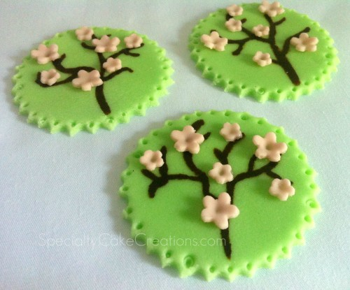 Cherry-Blossom-Tree-Fondant-Decorations